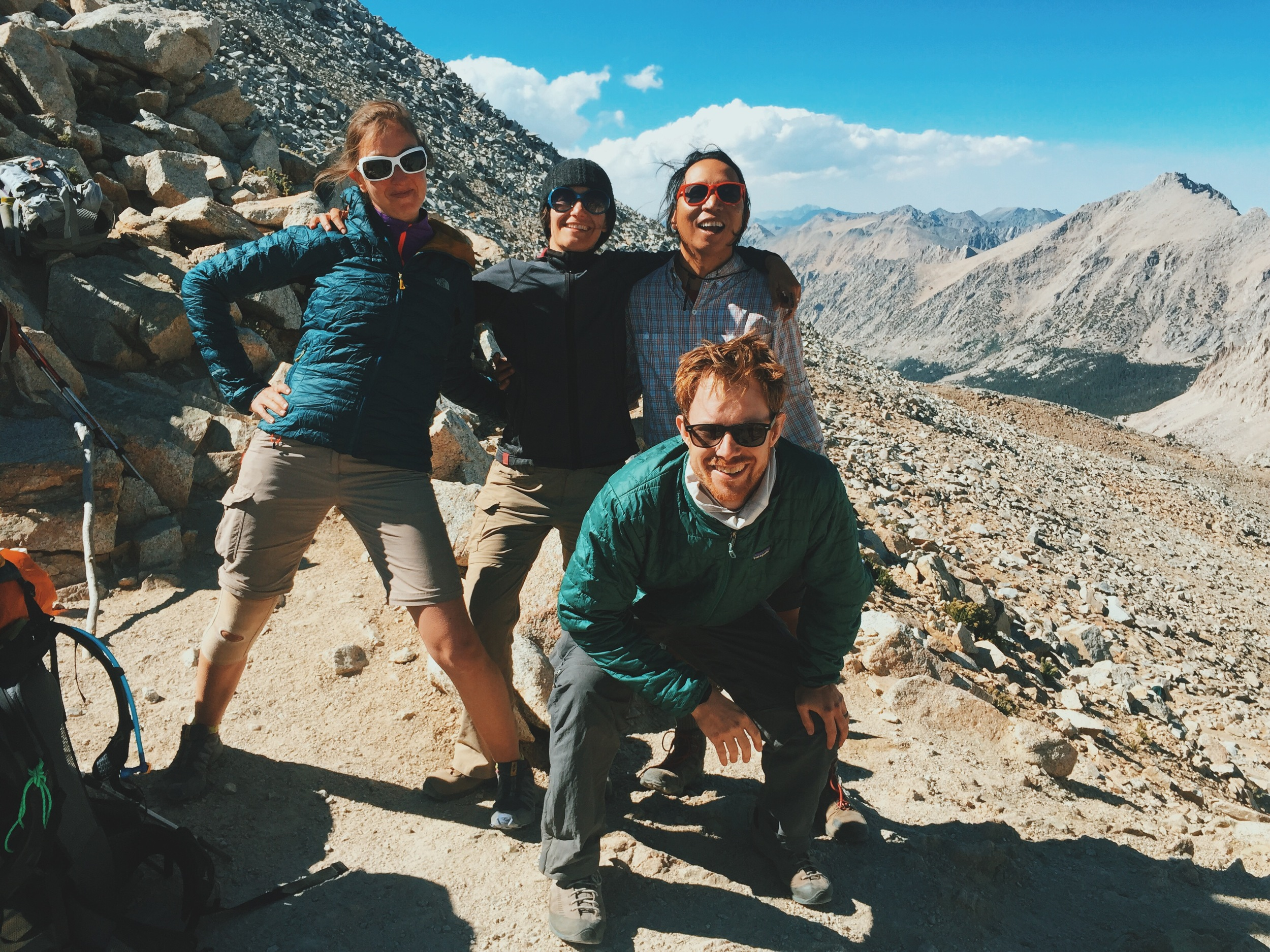 We took Forester Pass slow and steady and were ecstatic to have made it with plenty of energy left.