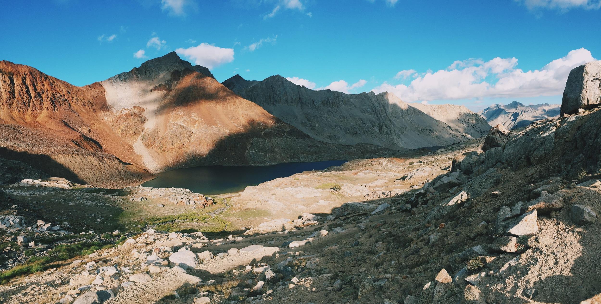 Hiking toward Pinchot Pass, Kings Canyon National Park