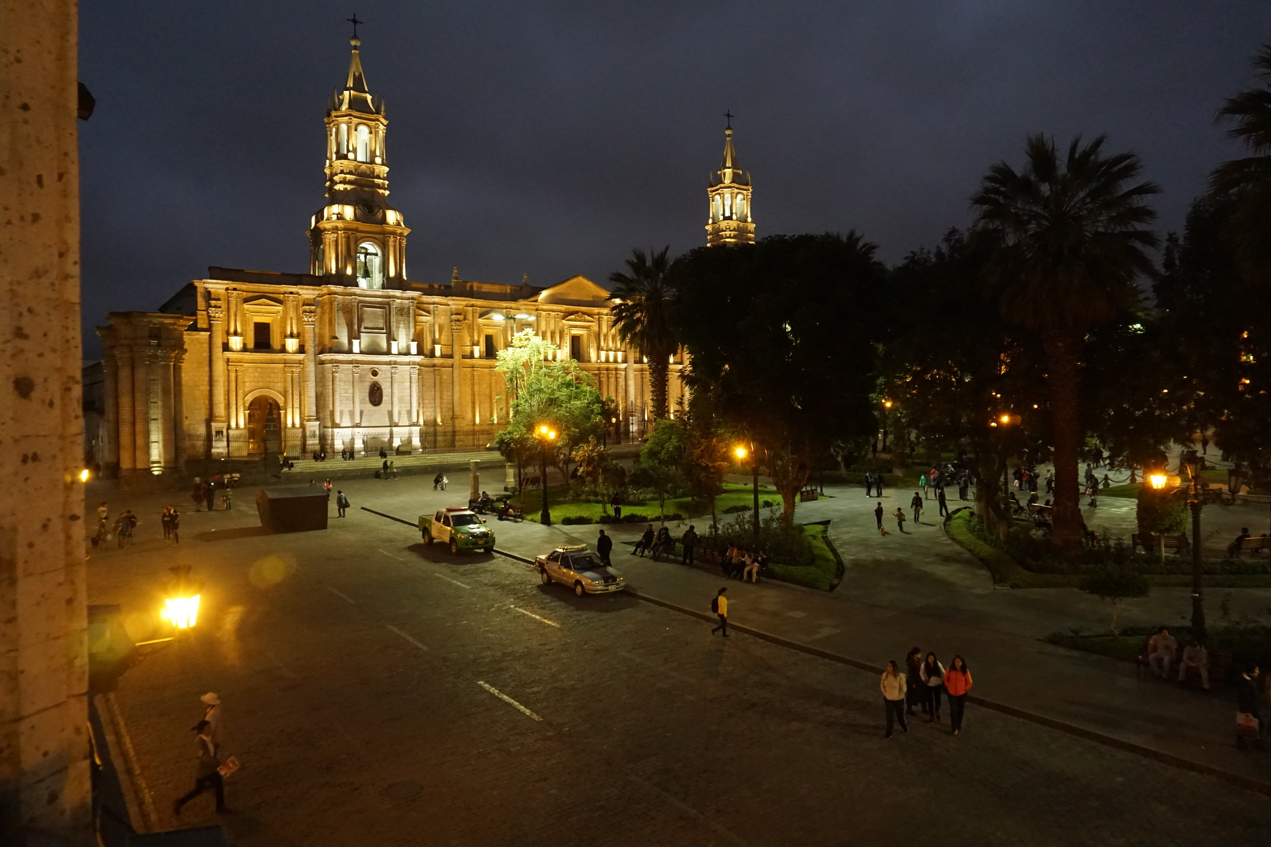 "View of the main plaza of ""La Ciudad Blanca"" (Arequipa)"