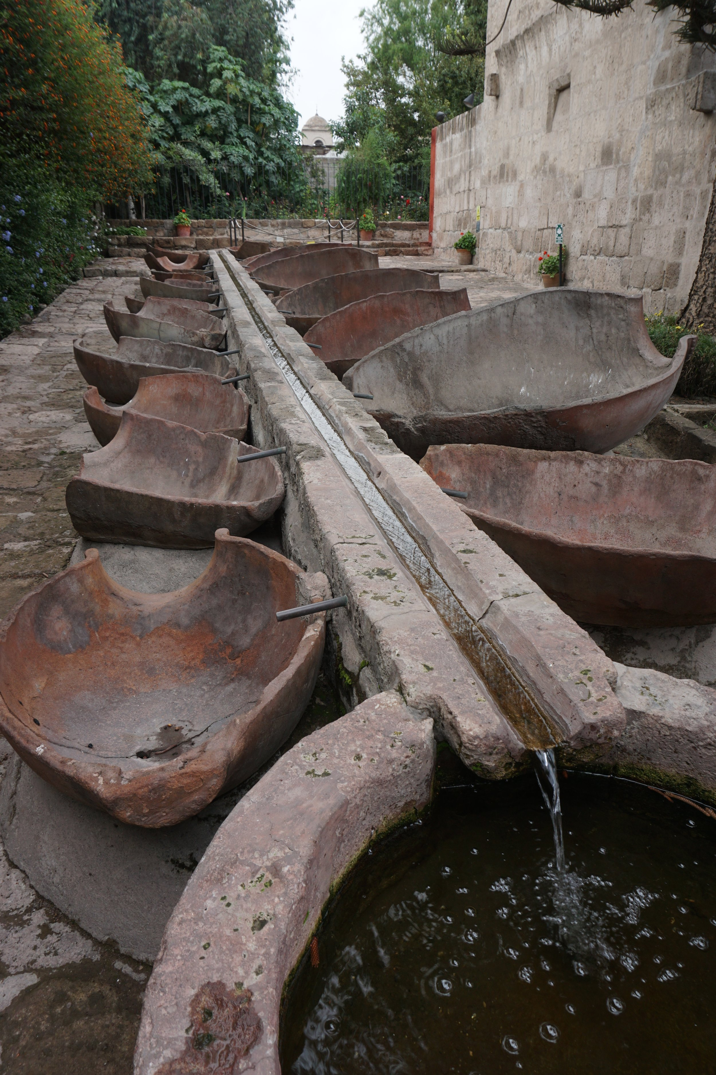 A clever waterway with inlets to laundry basins at Monasterio de Santa Catalina