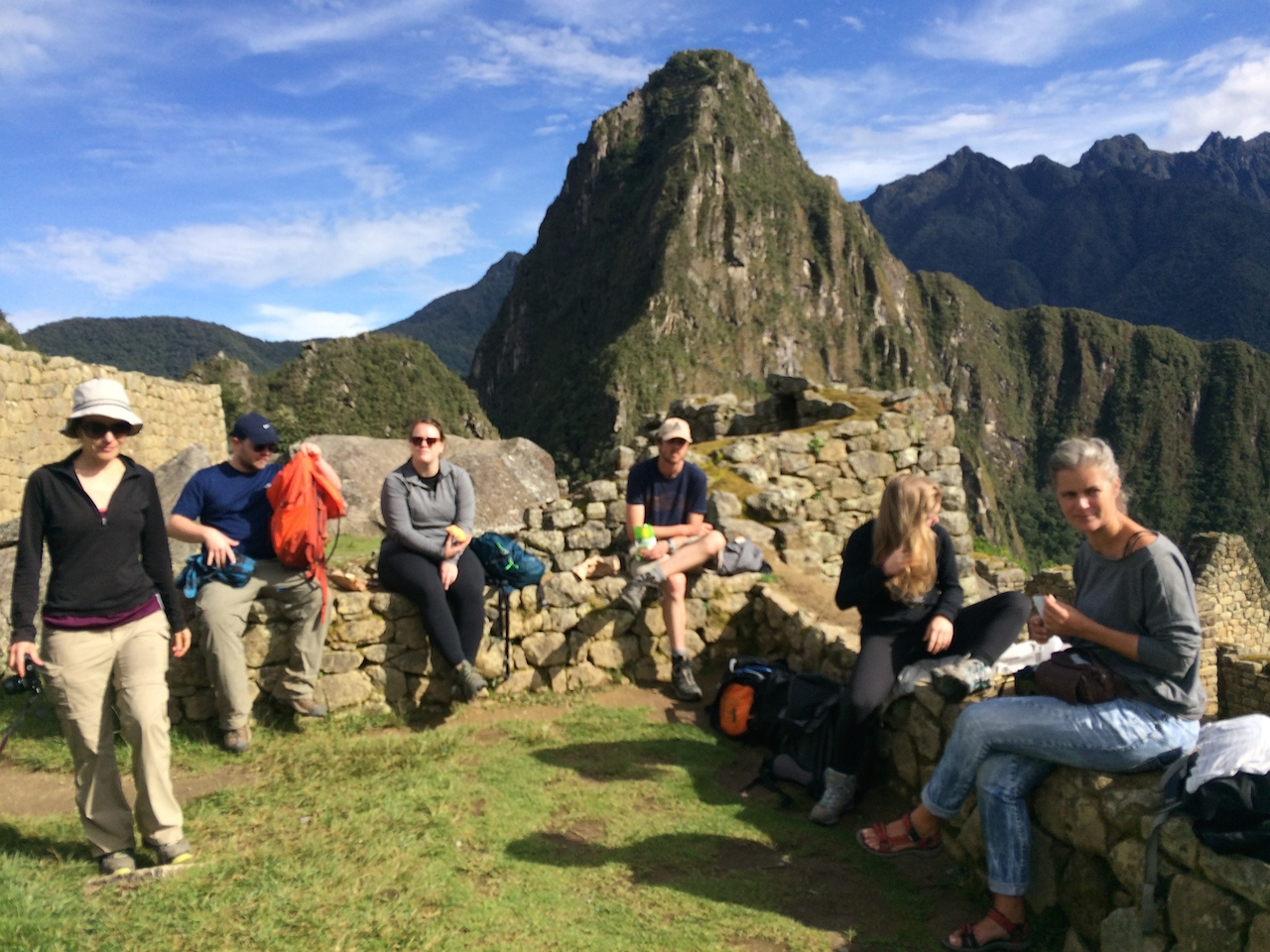 There's really no such thing as a bad lunch spot at Machu Picchu.