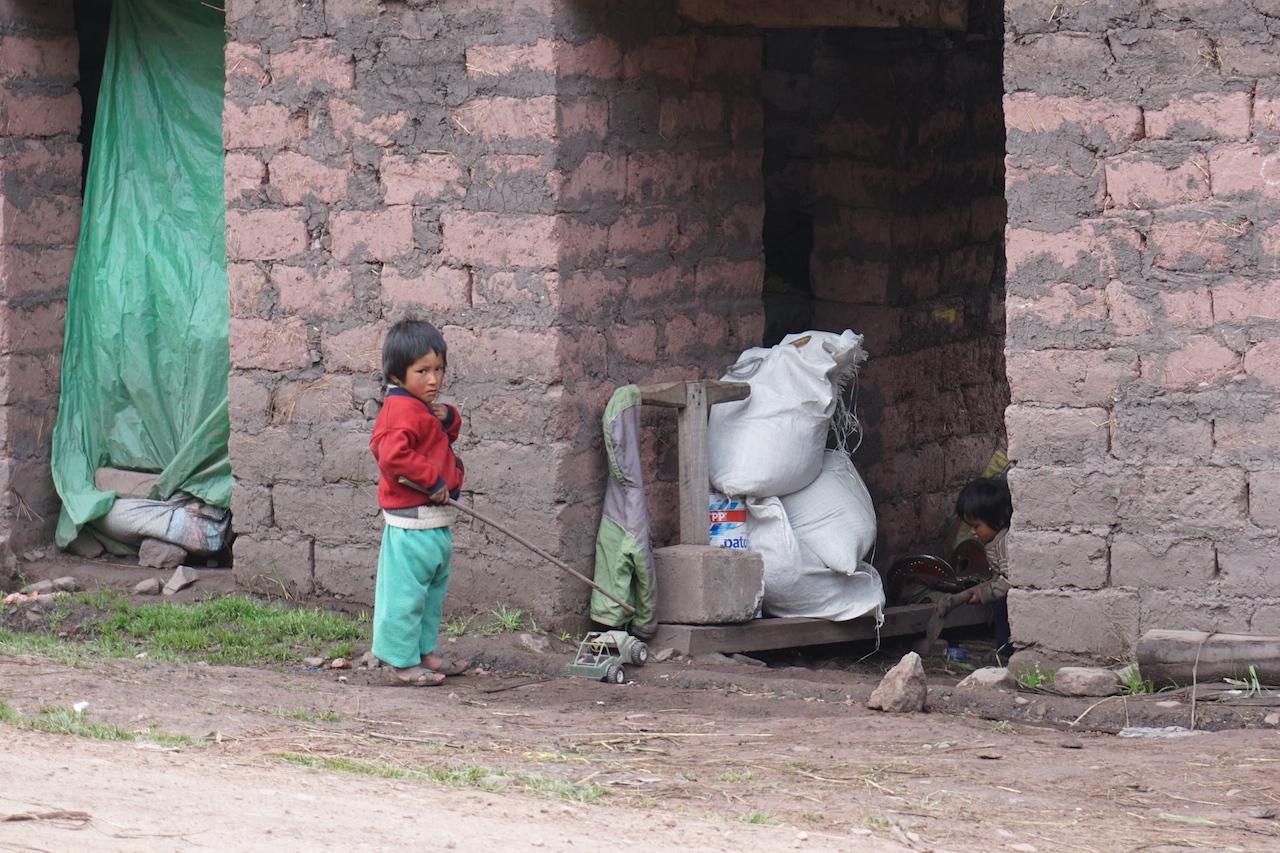 Two village children in Japura.
