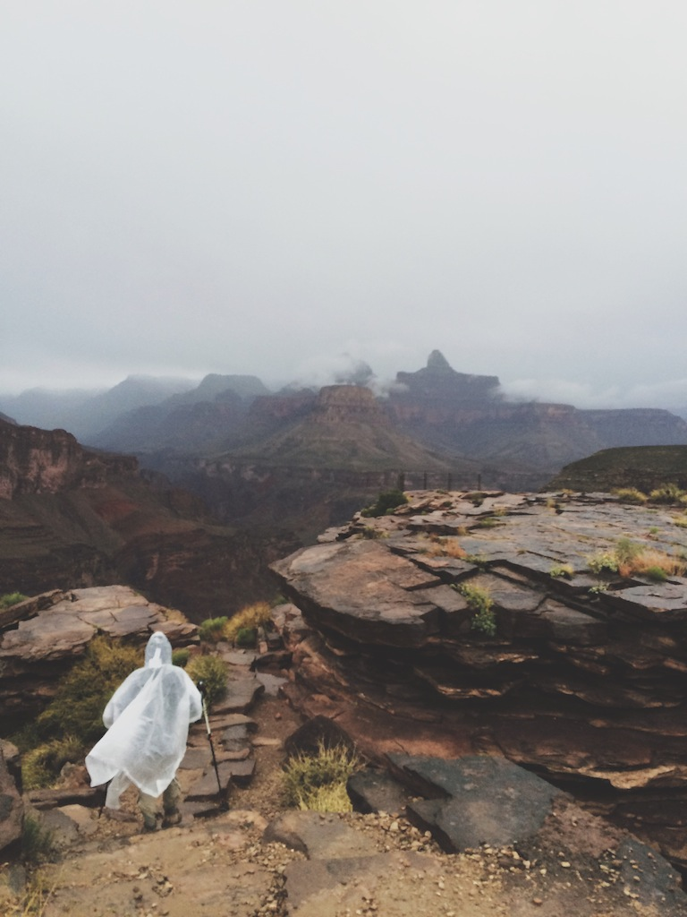 A rainy visit to Plateau Point