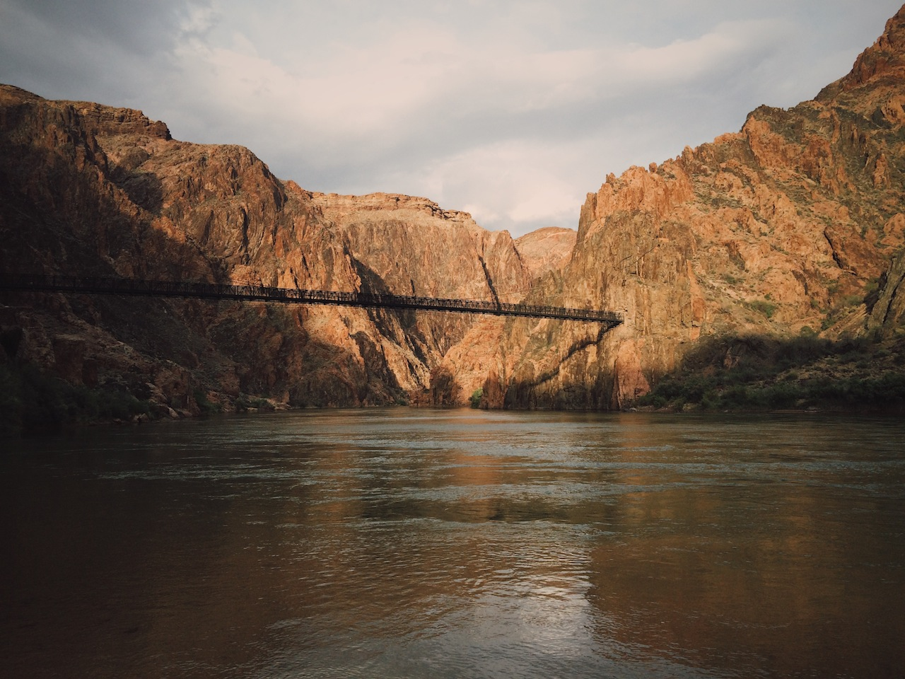 Bridge over the Colorado River along the South Kaibab Trail
