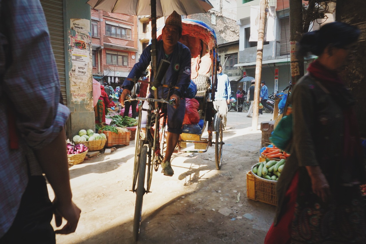 Early-morning market, Kathmandu