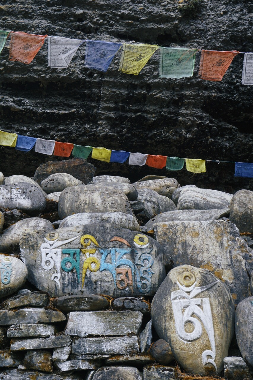 Tibetan Buddhist scripture has a strong presence in the higher elevations