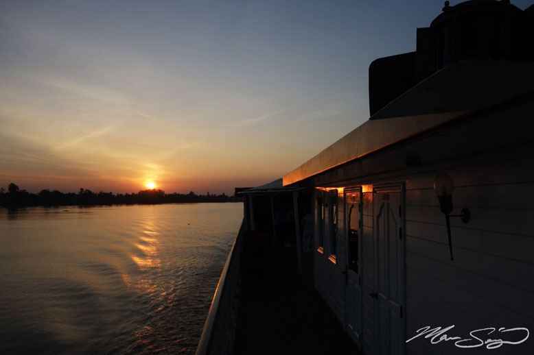Our first sunset on board the ship
