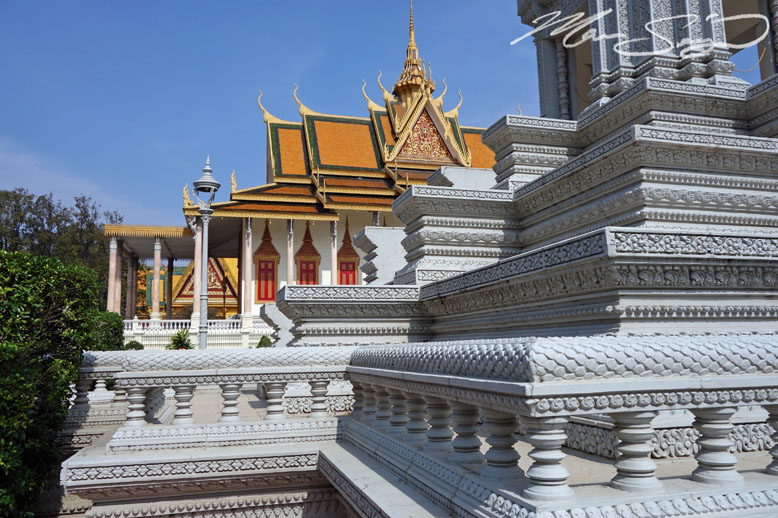 One of the temples at the king's palace in Phnom Penh