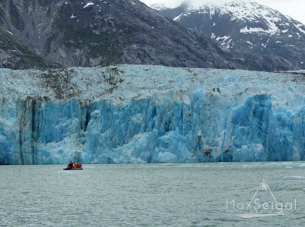 Zodiac adventures! Great views of glaciers...