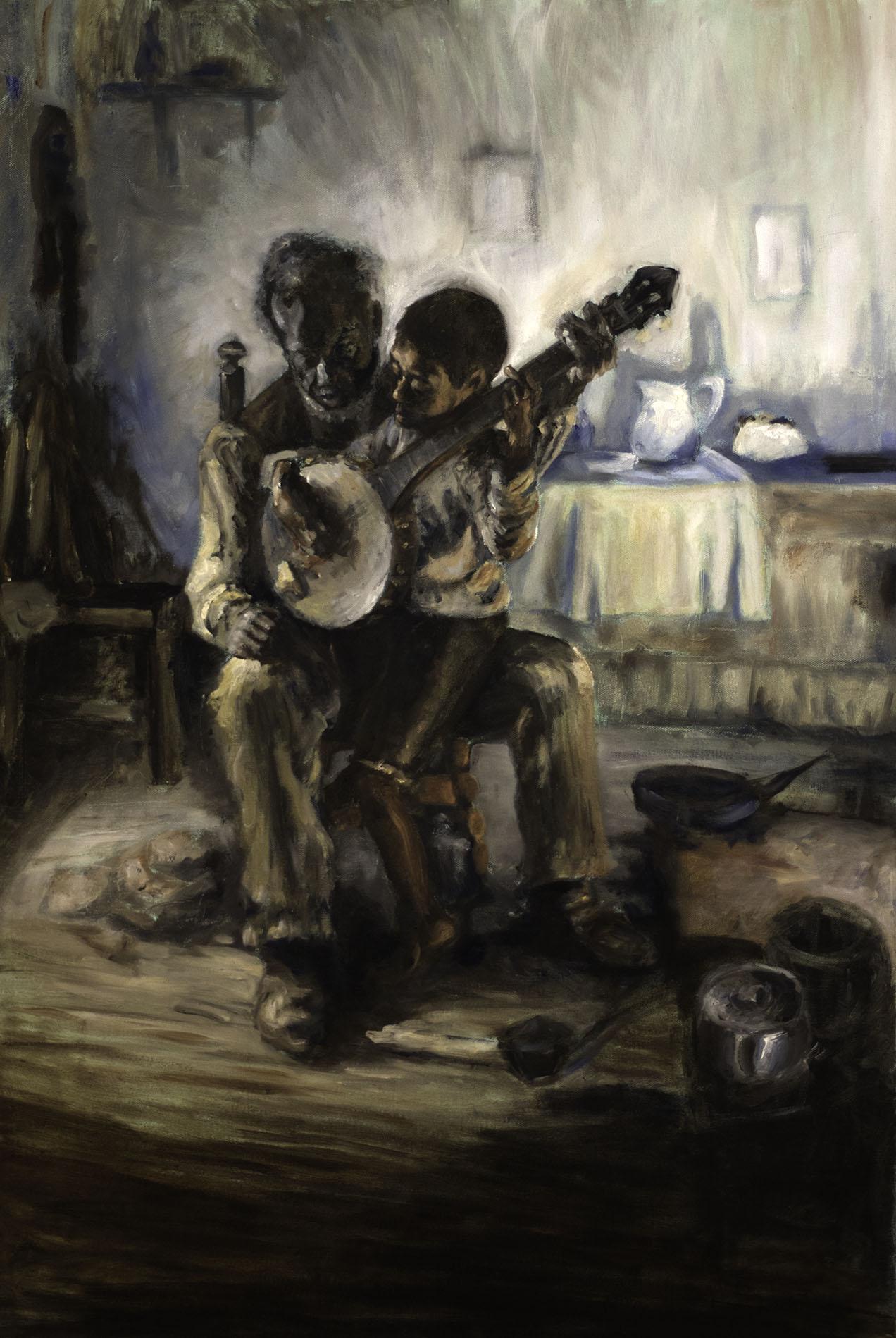 Banjo Lesson (Henry Tanner copy)