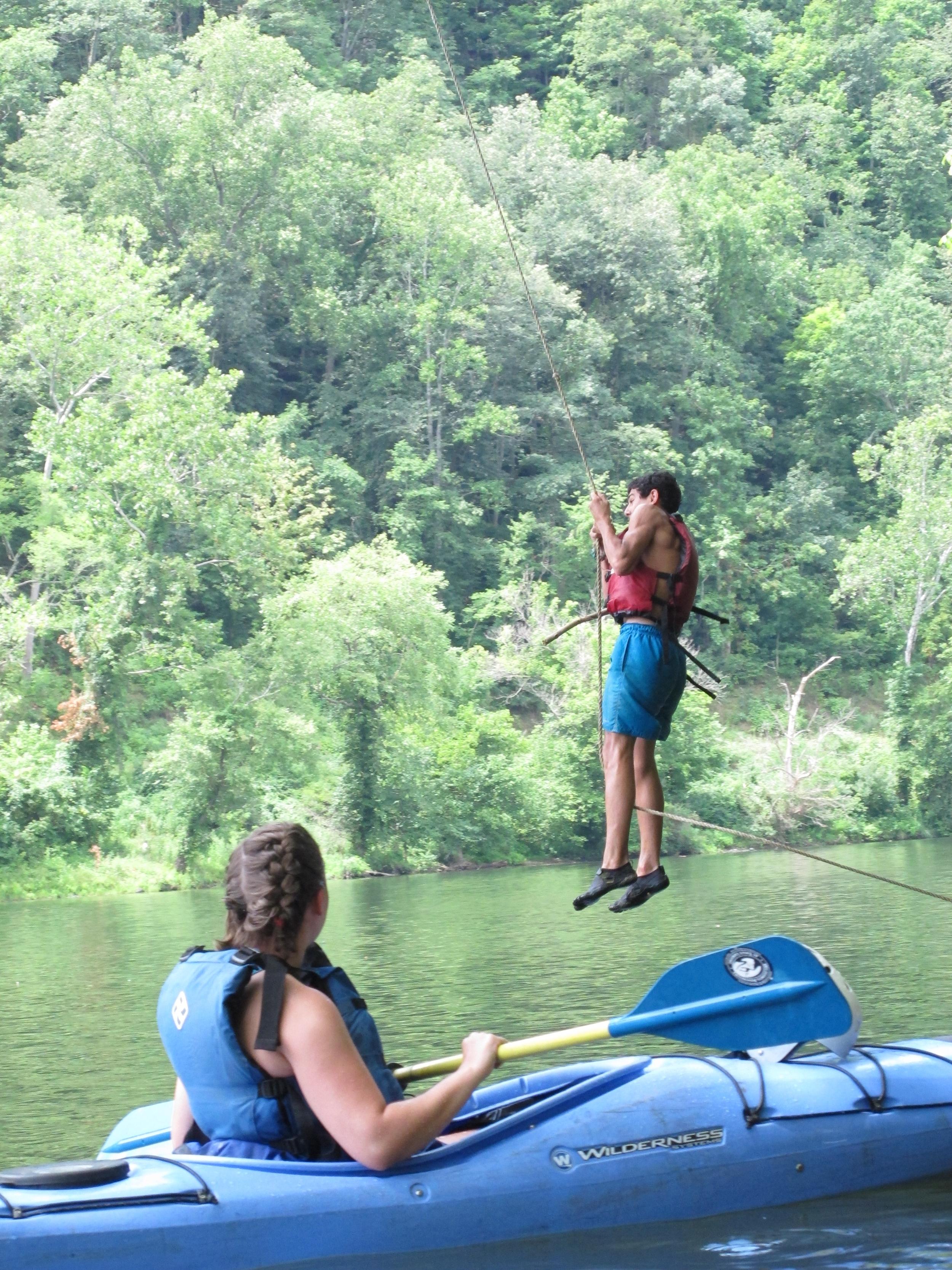 Kayaker plus Rope Swing.JPG