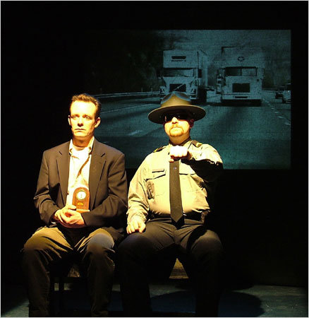"Tom Staggs and David DelGrosso as Gordon and Cop in ""When Is A Clock"" (2008)"