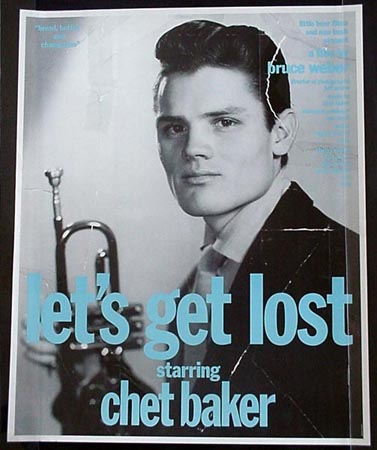 Original Poster for BRUCE WEBER'S 1989 documentary about jazz trumpeter/vocalist CHET BAKER