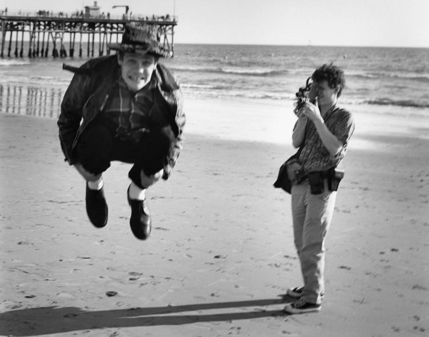 Jumping Ball; Chet were at Santa Monica Beach, California