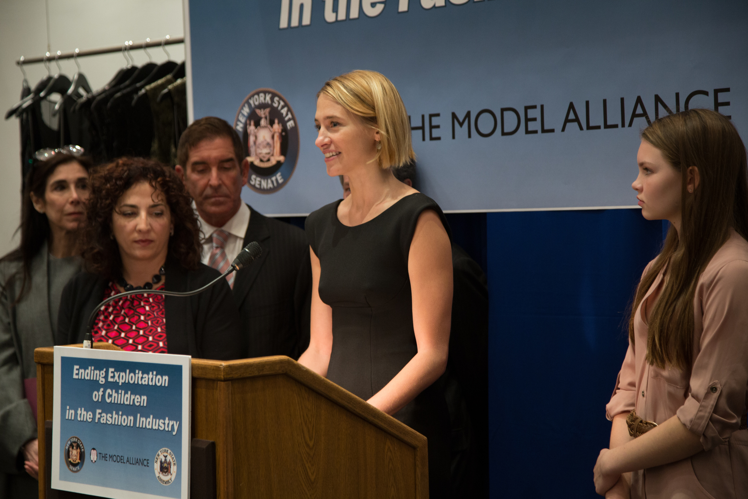 Executive Director of the Model Alliance, Sara Ziff