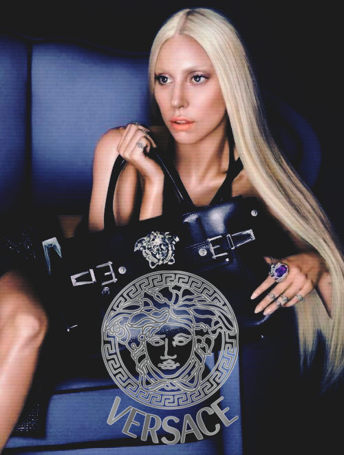"Versace's first campaign image for spring/summer 2014: ""Lady Gaga for Versace"""