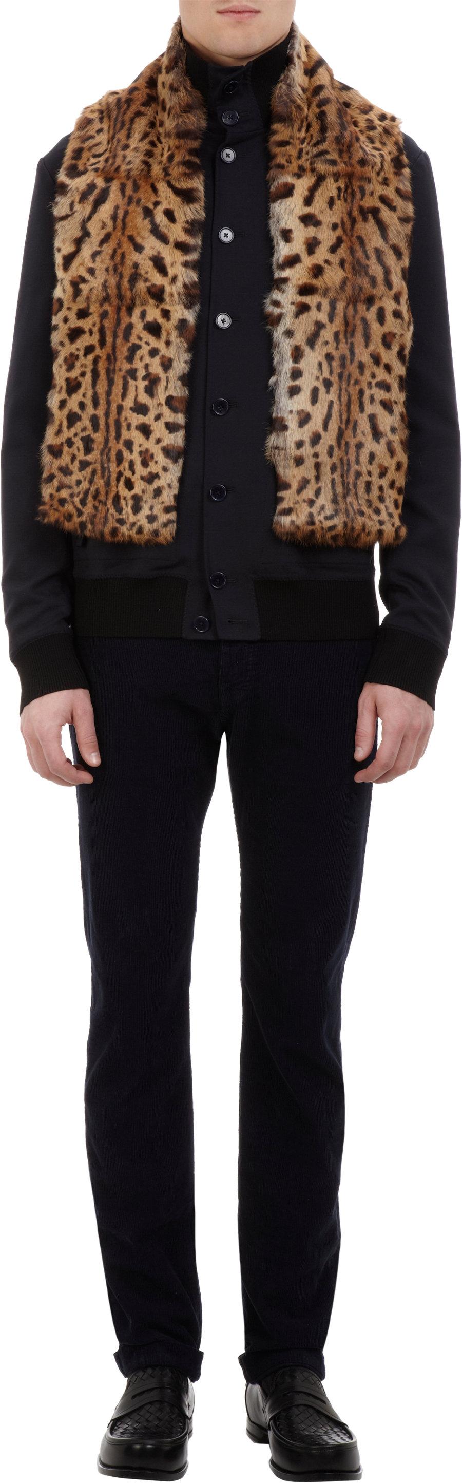 ALBERTUS SWANEPOEL Leopard-Print Fur Scarf  $399 Sale