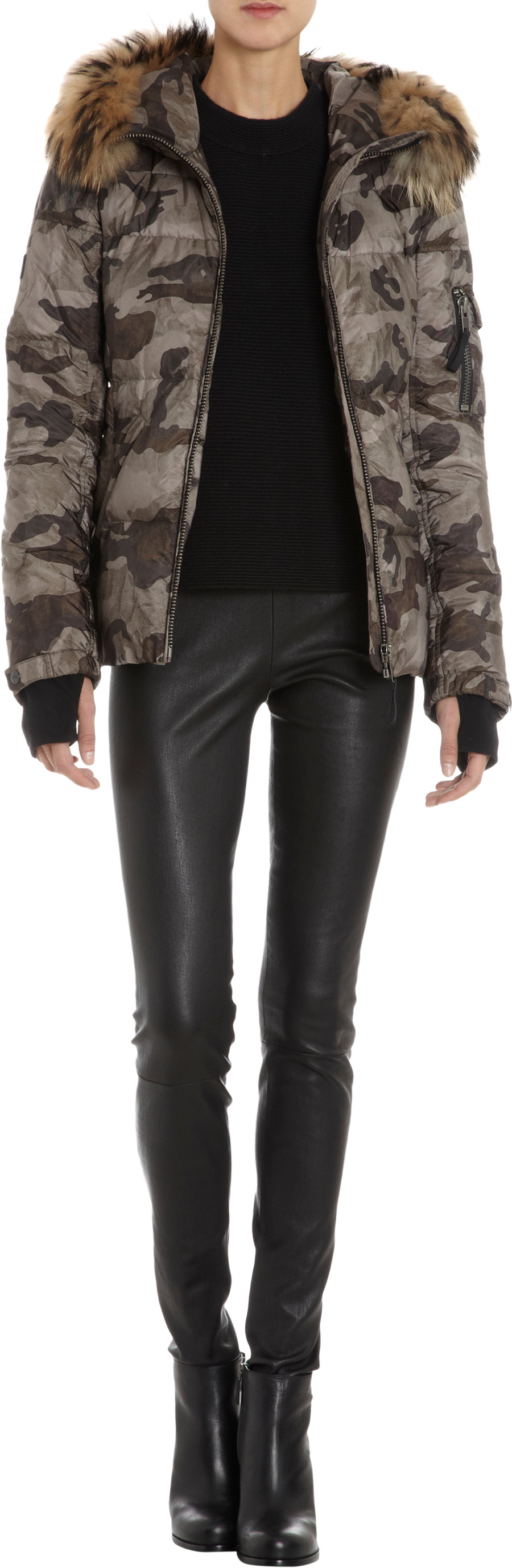 SAM Exclusively Ours Camo Puffer Coat $695