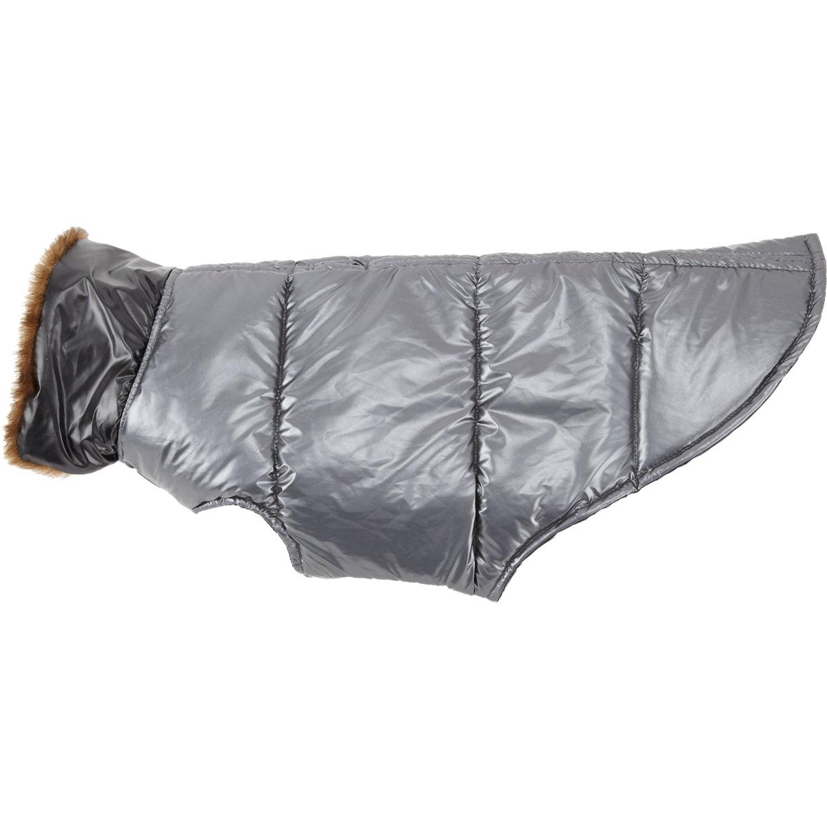 BARNEYS NEW YORK Metallic Puffer Dog Coat  $75 Sale