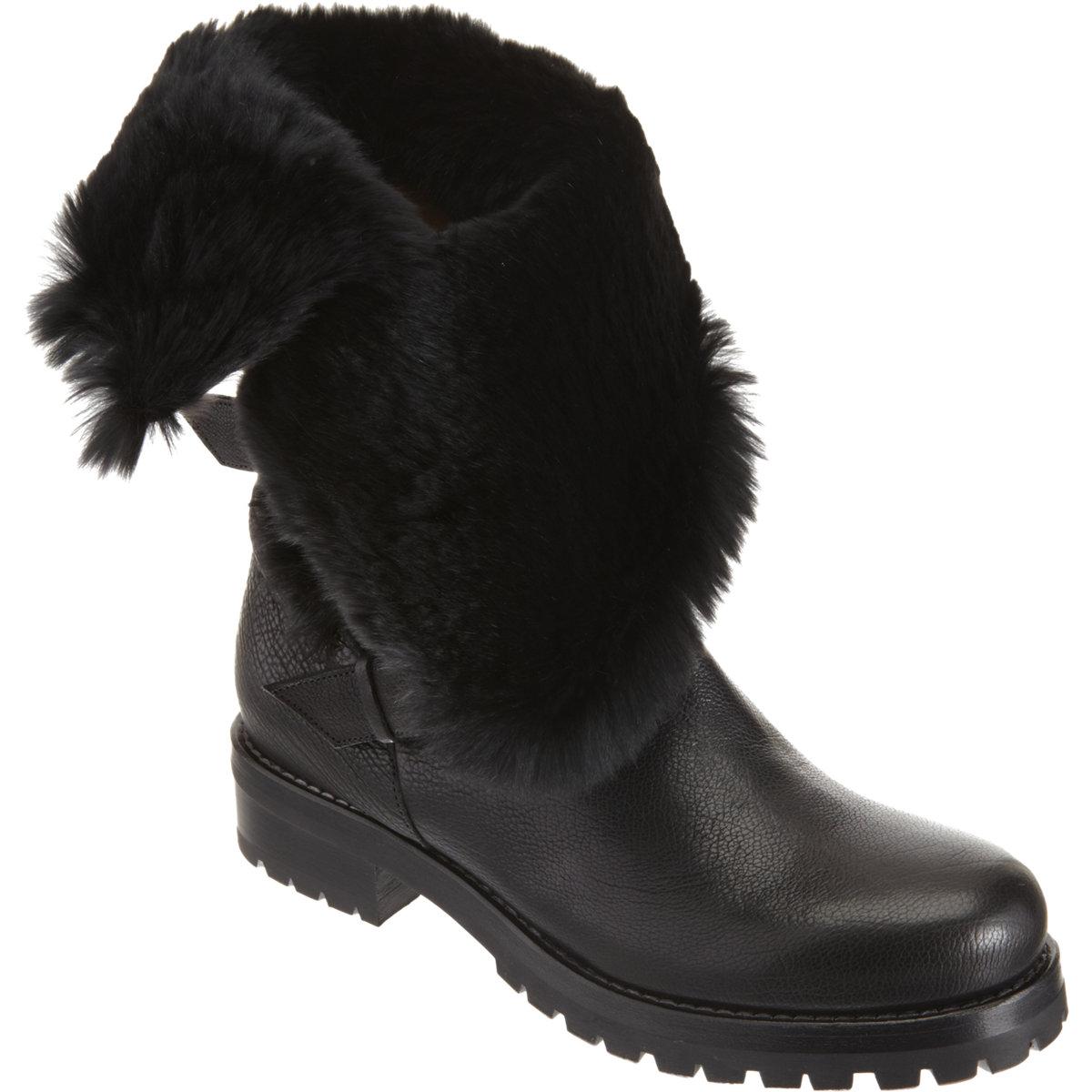 SARTORE Fur-Lined Moto Boot $1,210