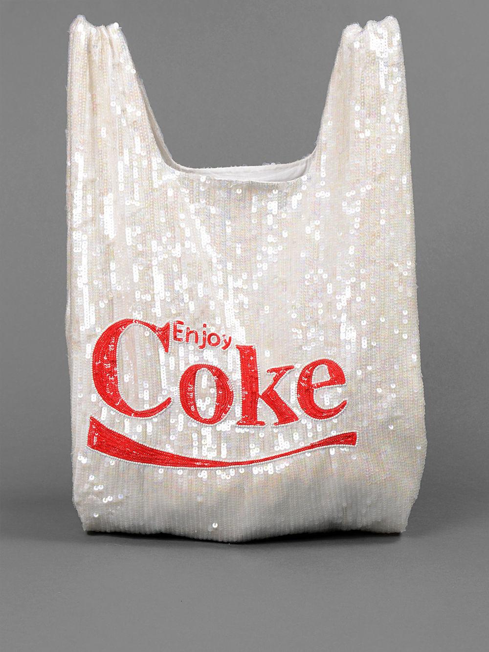 "ASHISH ""ENJOY COKE"" GROCERY BAG                                                        PRICE € 330   You can get it here >>   ASHISH  << Click"