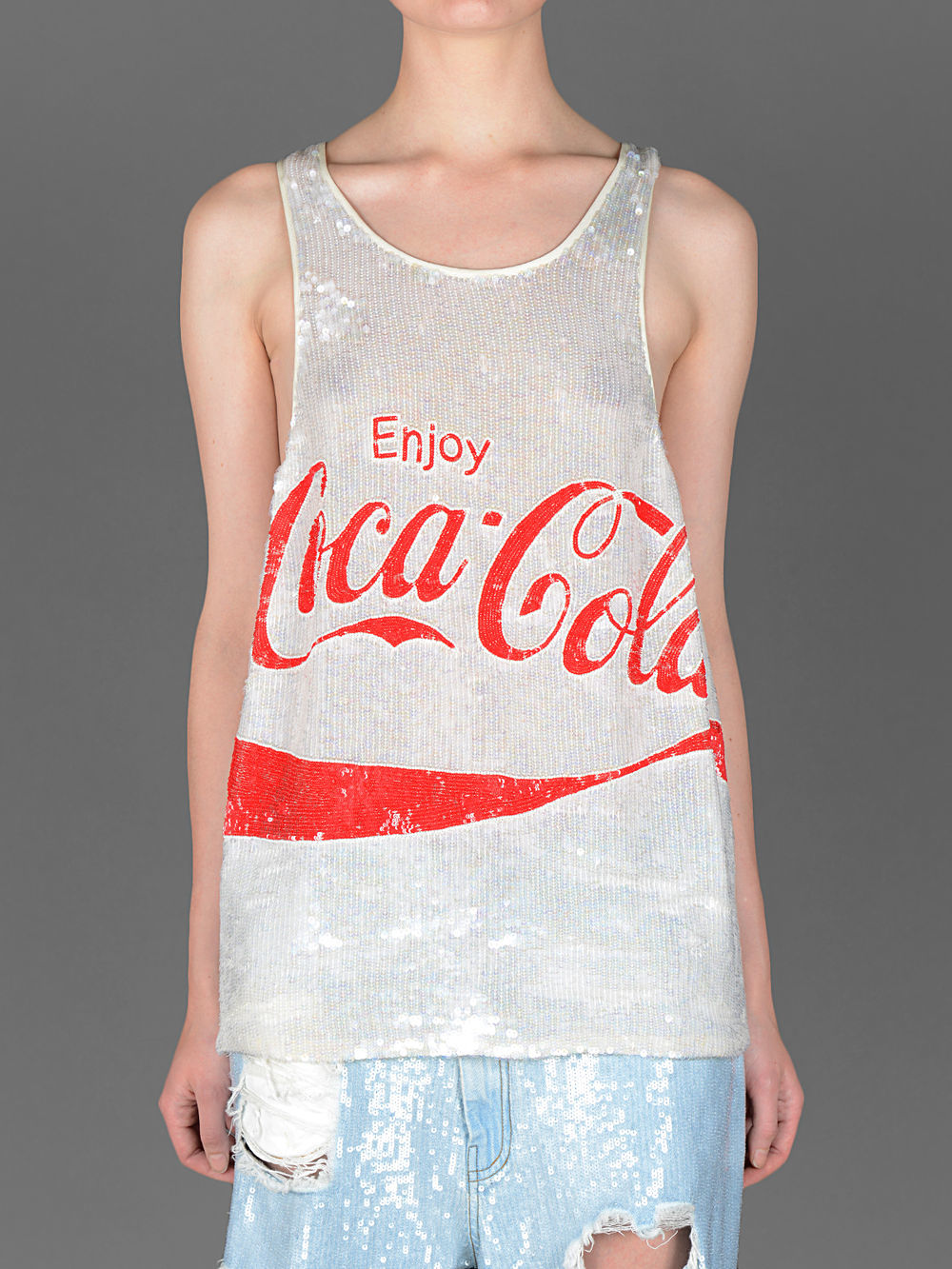 ASHISH SQUIN OVERSIZED COCA-COLA TANKTOP                                                                                        PRICE € 621           You can get it here >>  ASHISH  << Click
