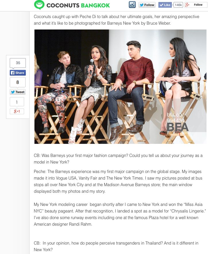 The new interview for Coconut Bangkok on March 25th, 2014