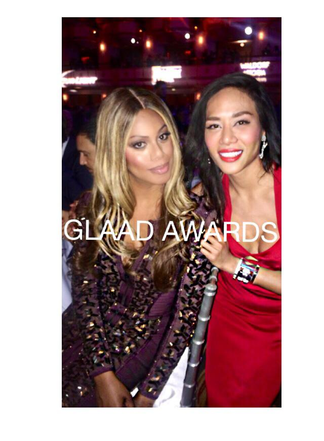 Laverne Cox and I at the GLAAD AWARDS