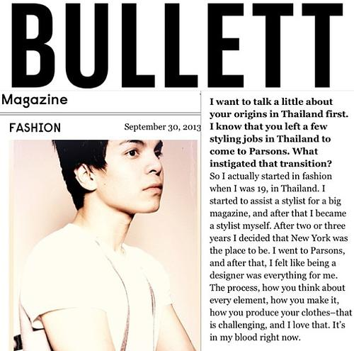 Alax W Diamond gave an interview to Bullett Magazine