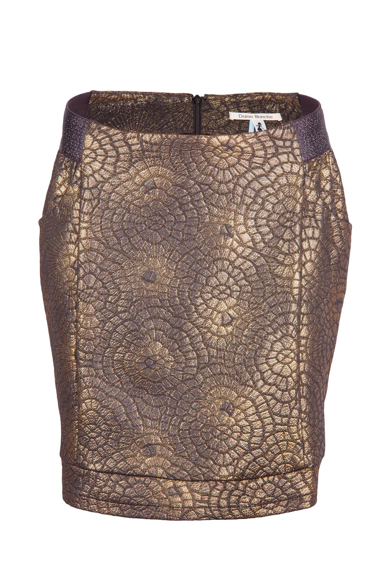 Dame Blanche - Mini Skirt Black & Gold-1.jpg