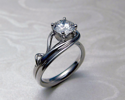 Asymmetrical Engagement Ring