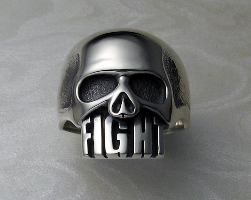 Fight Skull Ring