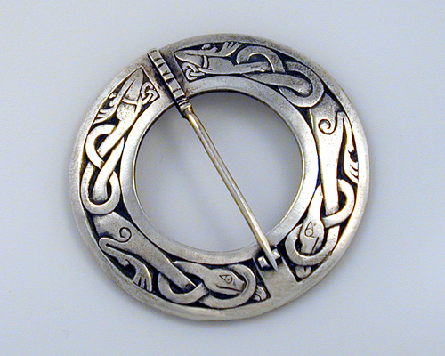 Celtic, circle brooch pin.
