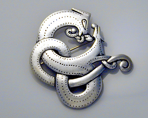 Viking, dragon brooch.