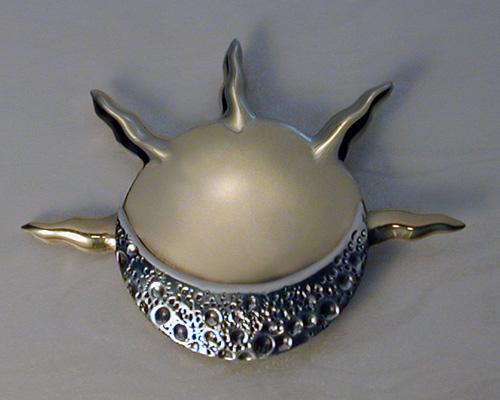 Custom made, sun and moon pendant.