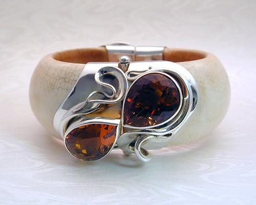 Handcrafted antique Ivory Bracelet