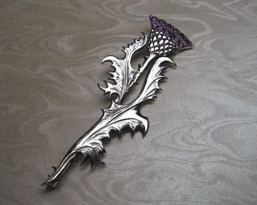 Scottish thistle, kilt pin brooch.
