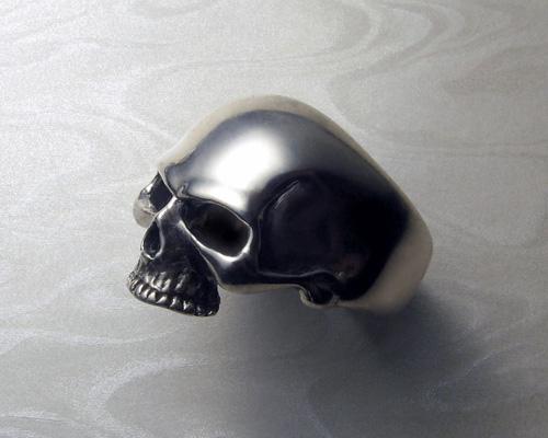 Large, heavy, skull ring.