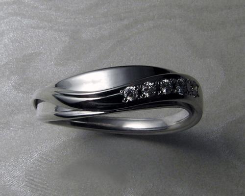 Wedding Band - Unique engagement ring set.