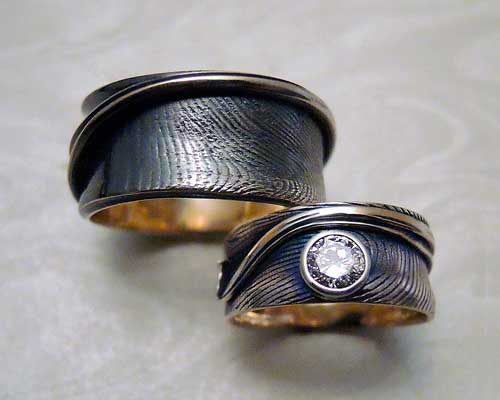 Fingerprint wedding set...