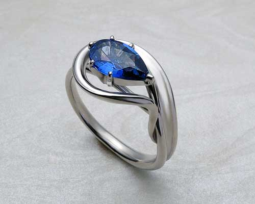 Pear shaped Sapphire engagement rings...