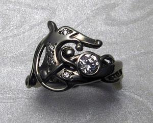 Viking dragon engagement ring.