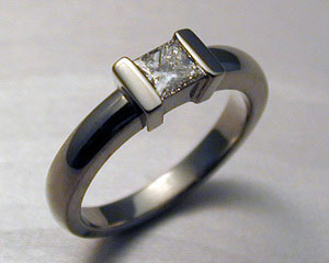 Princess cut engagement ring.