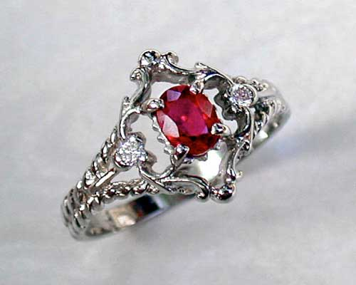Filigree Style Engagement Ring