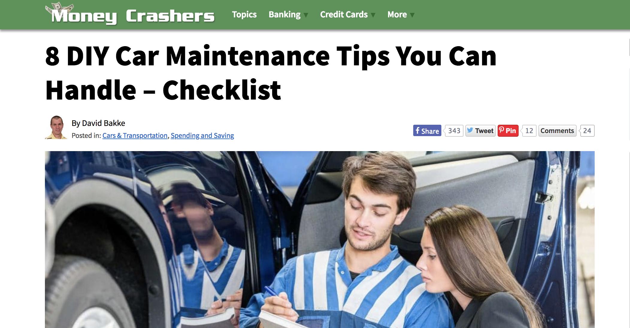 Screenshot of  Moneycrashers.com