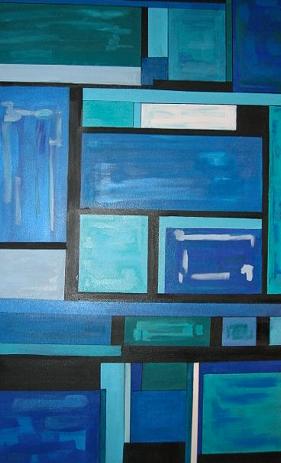 Title: Blue Squared