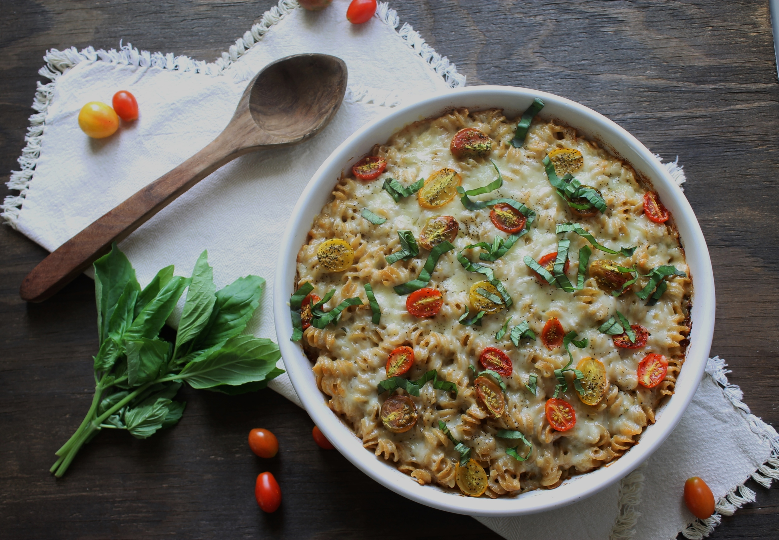 Caprese Macaroni and Cheese: My Diary of Us