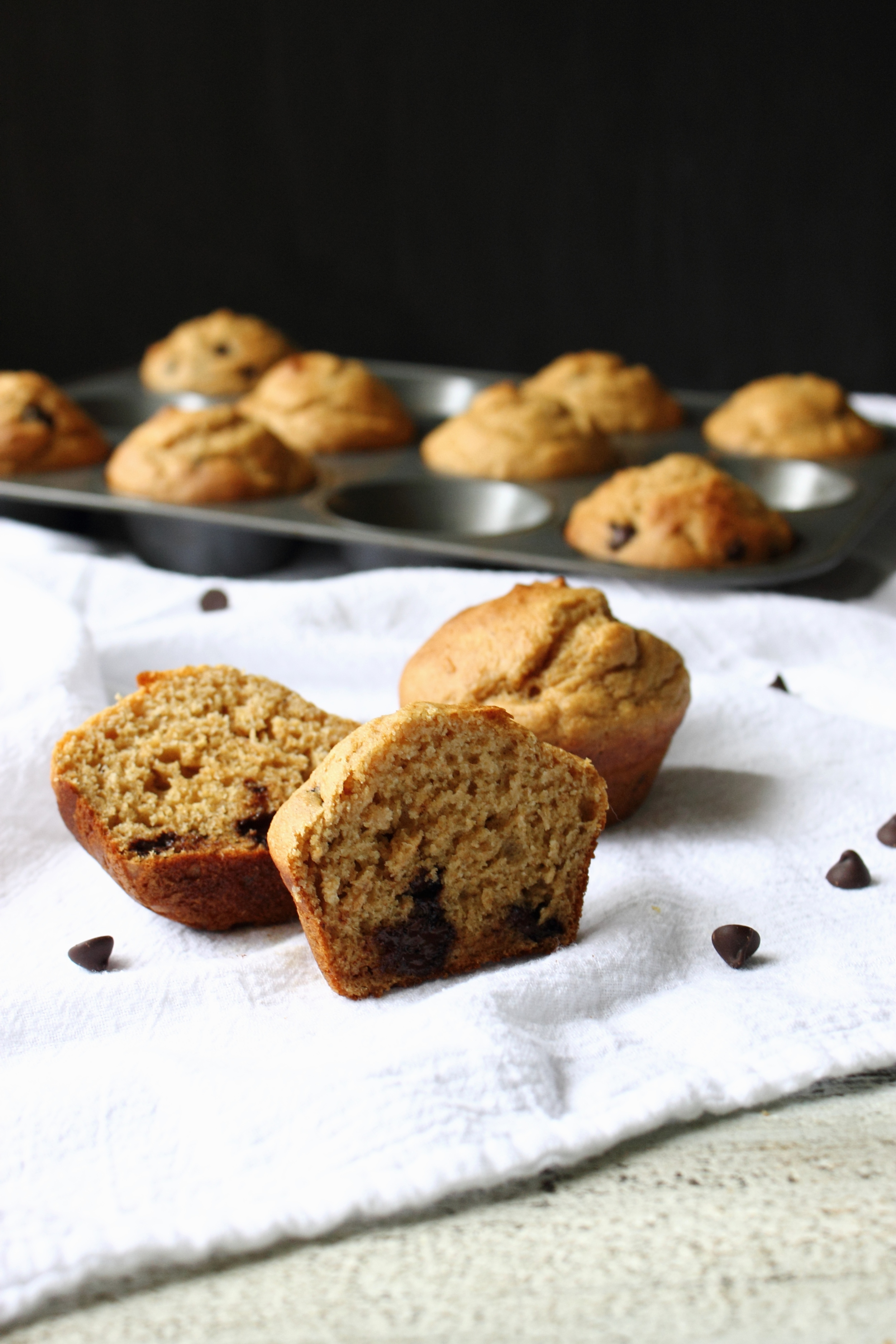 Skinny Banana and Chocolate Chip Muffins: My Diary of Us