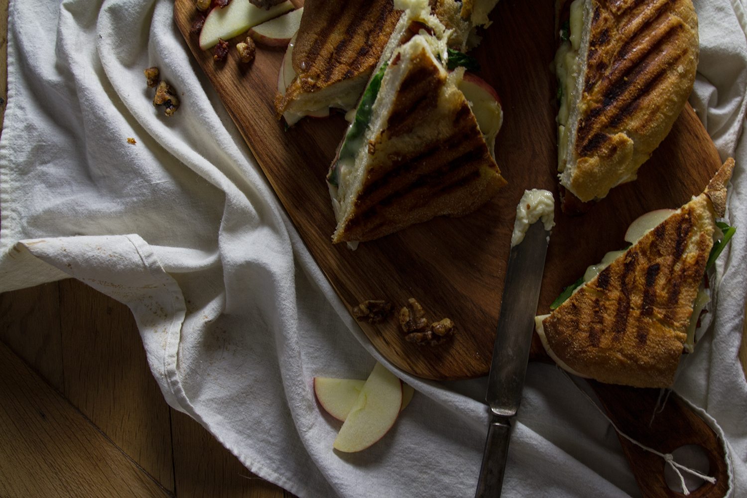 Bourbon Honey Butter Panini with apples, brie, and bacon: My Diary of Us