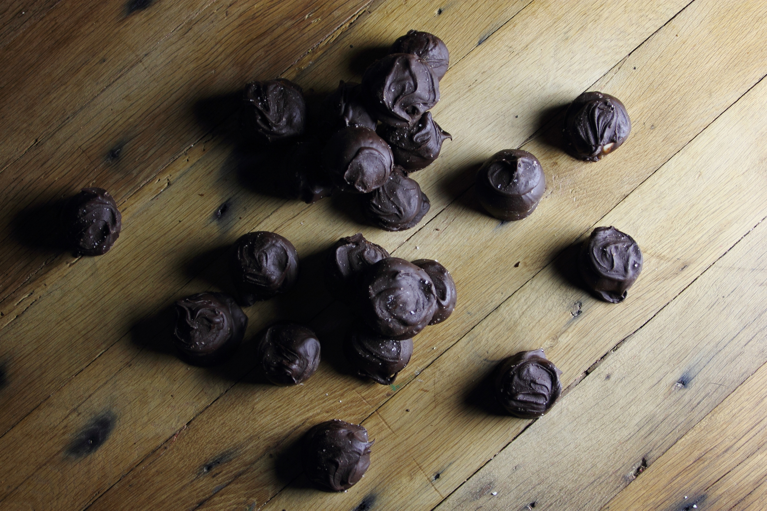 Smoked Oak Chocolate Bourbon Balls: My Diary of Us
